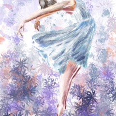 Dancer in blue dress