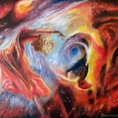 Ballet dancer in nebula 6